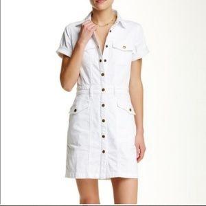CURRENT ELLIOTT The New Trucker Denim Shirt Dress